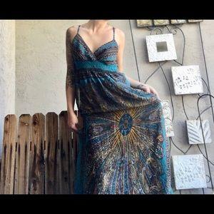 Hippy sheer maxi dress